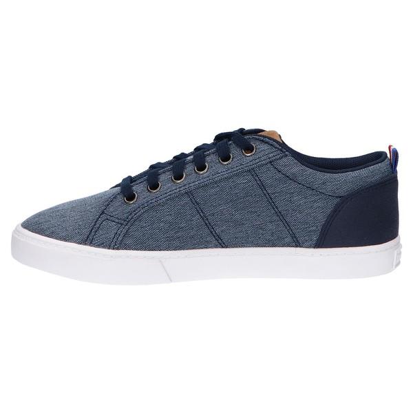 Sneaker piel mujer/junior - azul