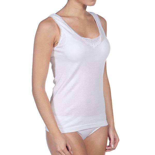 Camiseta de tirantes interior mujer - blanco