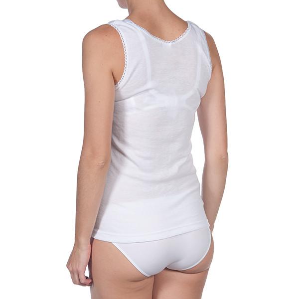 Camiseta interior tirantes mujer - blanco