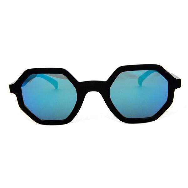Gafas de sol unisex calibre 48 plástico - negro