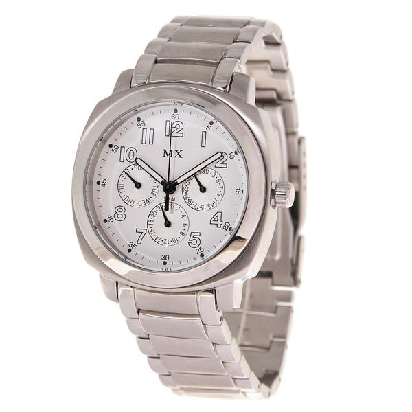 Reloj analógico acero hombre - plateado/blanco