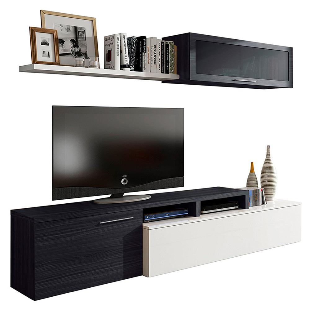 Mueble comedor nexus - blanco brillo/ceniza HABIT DESIGN 016667G