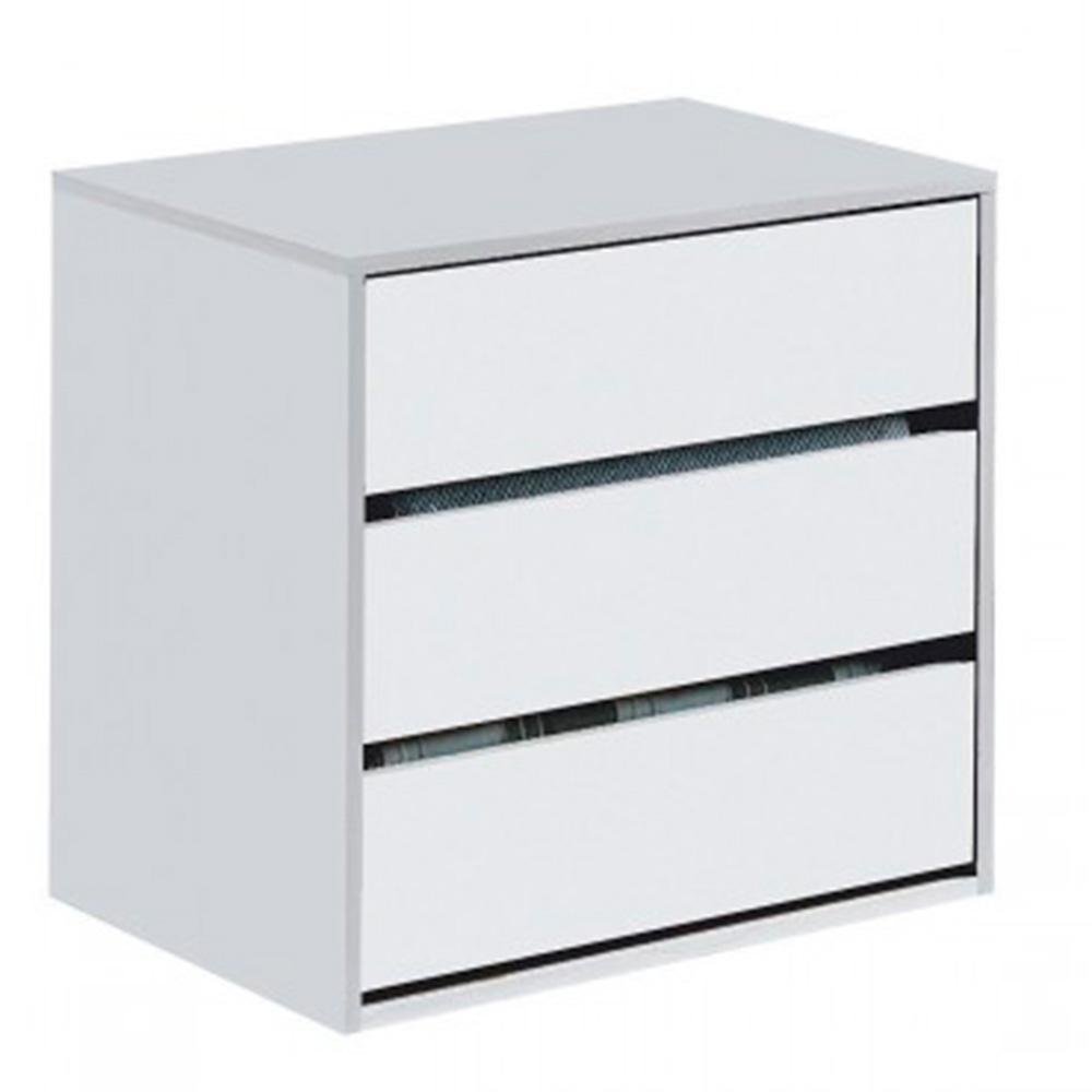 Cajonera armario Arc - blanco brillo