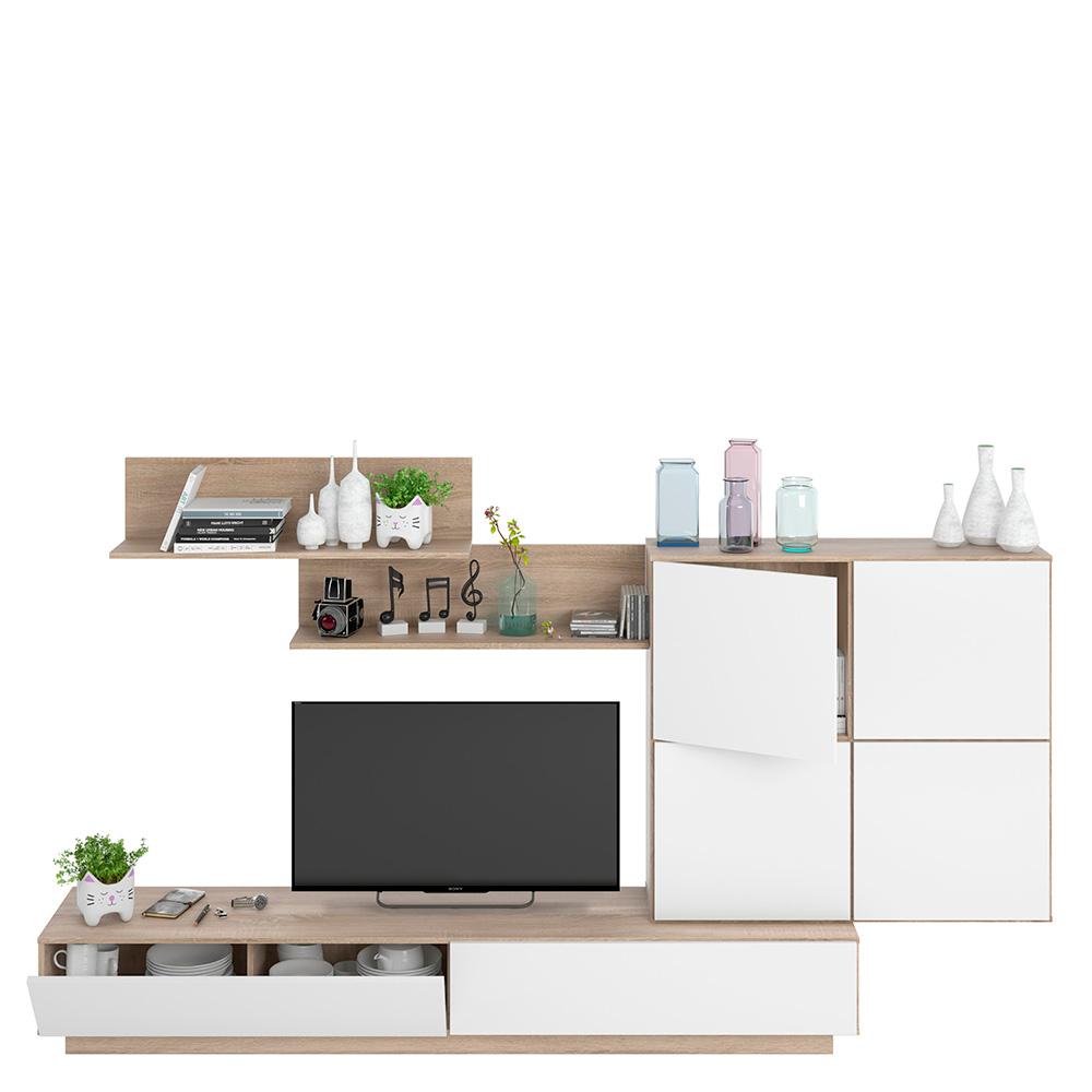 Mueble comedor Lue - blanco brillo/roble canadian HABIT DESIGN 026665F