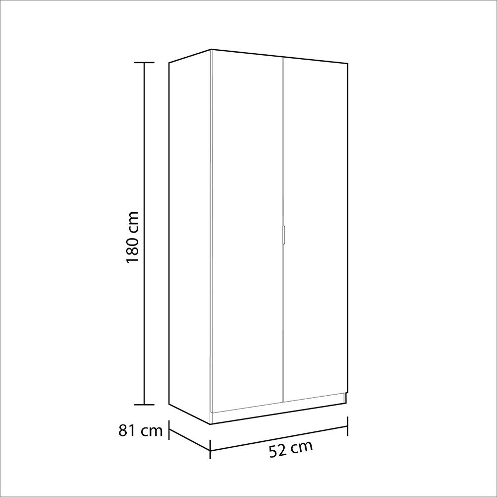 Armario 2 puertas Lowcost - roble