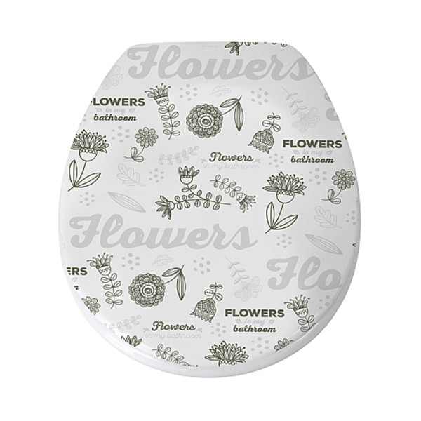 ASIENTO WC THERMO-DUR CIERRE LENTO  FLOWERS