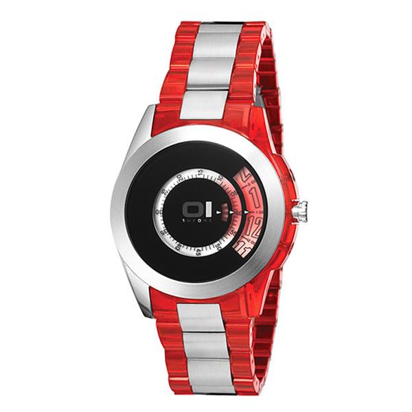 Reloj analógico unisex - rojo/negro