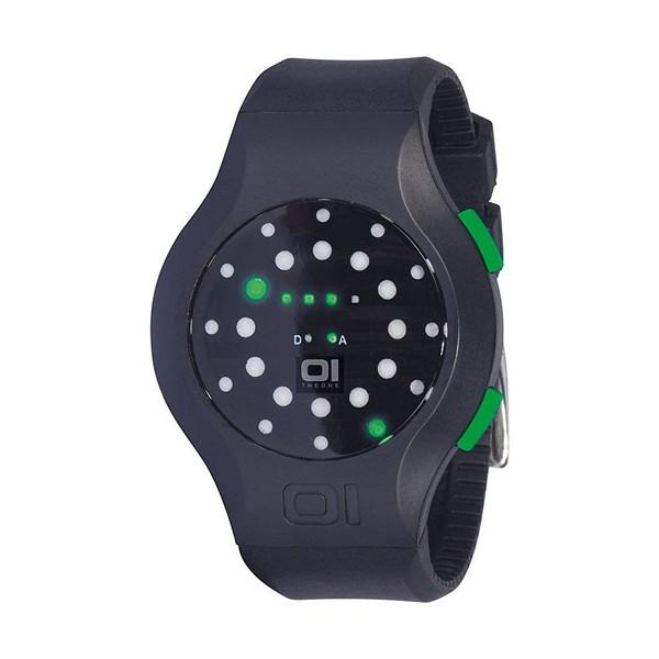 Reloj binario unisex caucho - negro