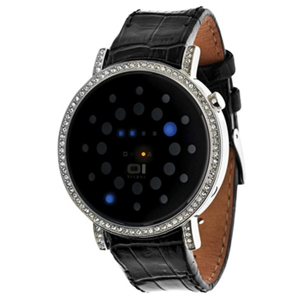 Reloj binario piel unisex - negro