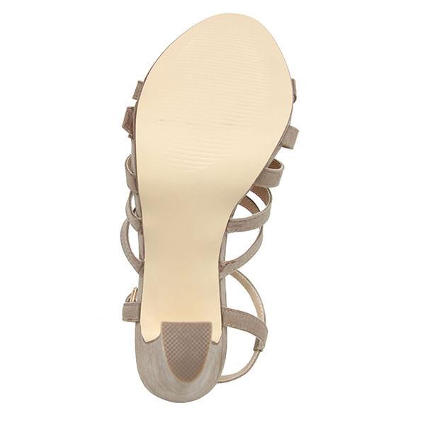 11cm Sandalia tacón mujer - taupe