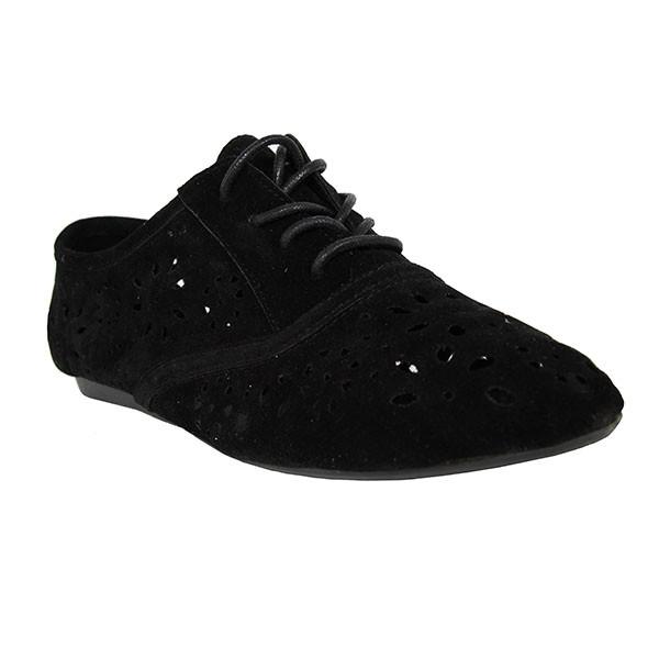 Zapato piel mujer - negro