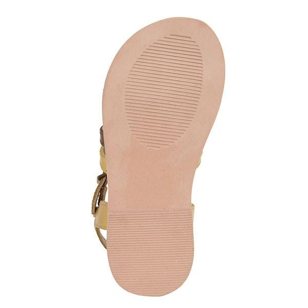 Sandalia plana - beige