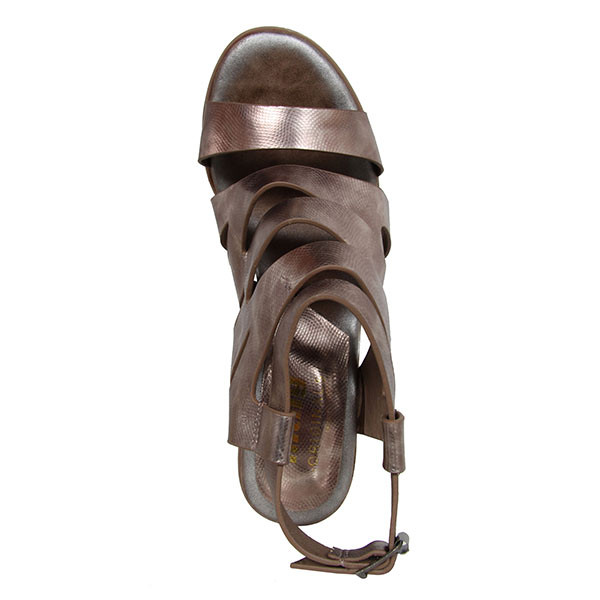 Sandalias tacón mujer - bronce