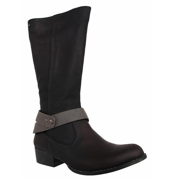 4cm Bota tacón mujer - negro