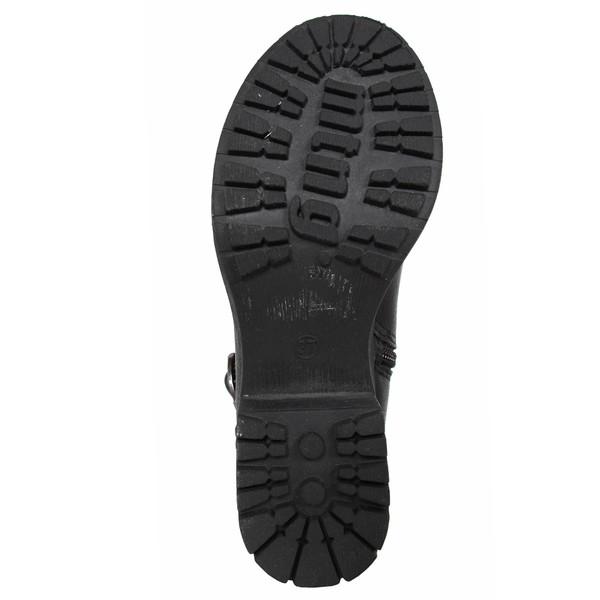 4cm Bota mujer mini tacón - negro