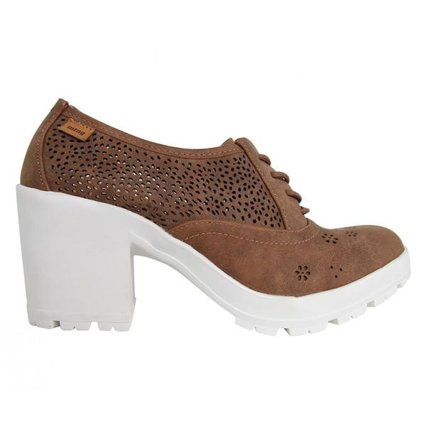 6cm Zapato tacón mujer - marrón