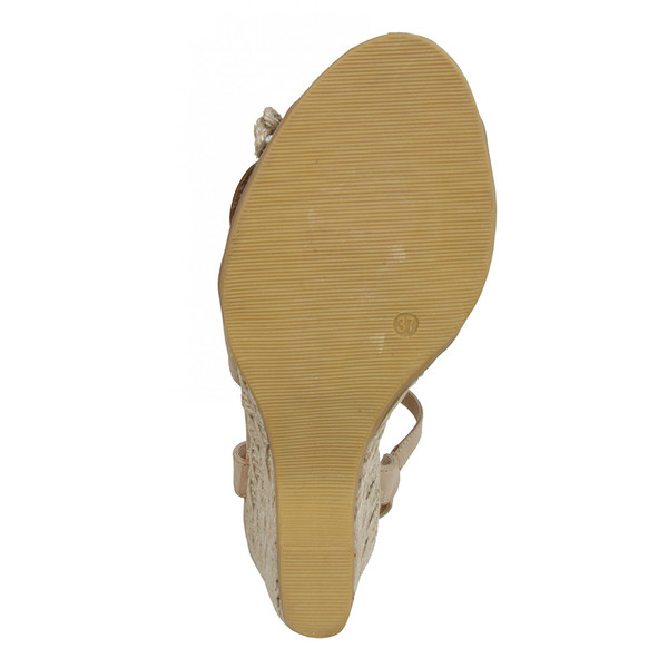 Sandalia cuña mujer - beige