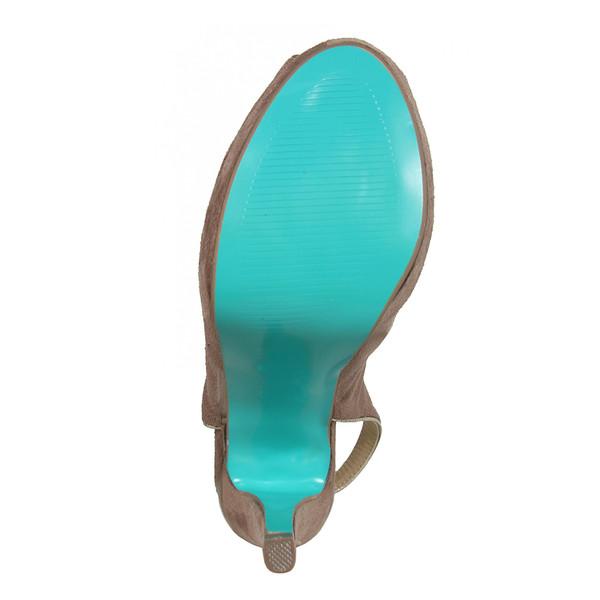 Zapato tacón mujer - marrón