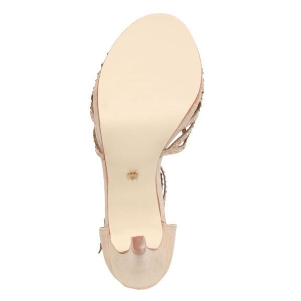 Sandalia tacón mujer - arena
