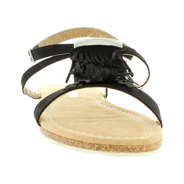 Sandalia planas mujer - negro