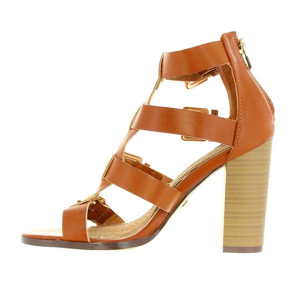 9cm Sandalia tacón mujer - marrón