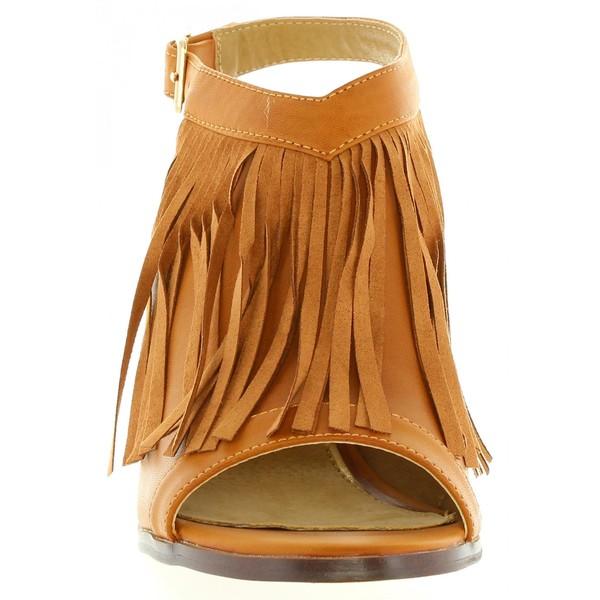 9cm Zapato tacón mujer - marrón