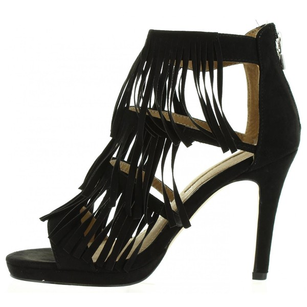 10cm Sandalia tacón mujer - negro