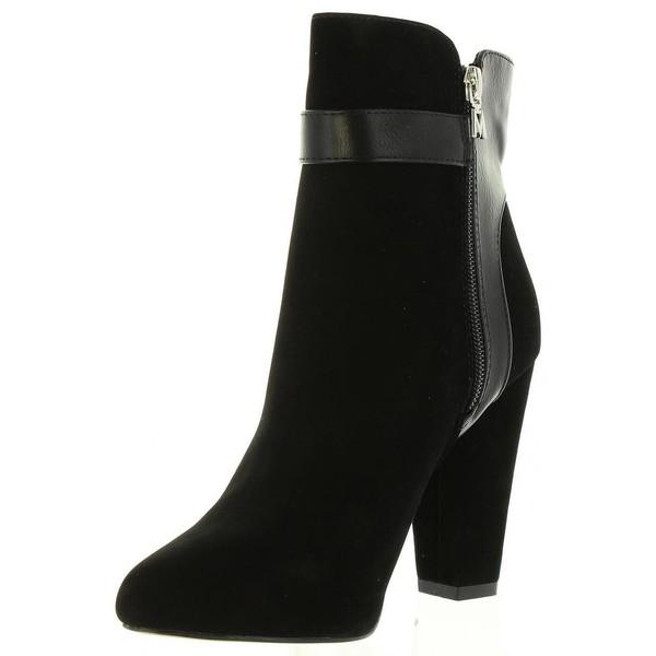 10cm Botín de mujer tacón - negro