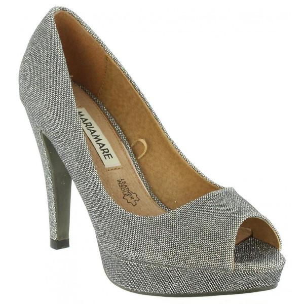 11cm Zapato tacón mujer - plateado