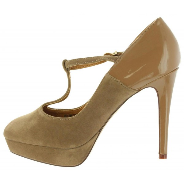 11cm Zapato tacón mujer - taupe