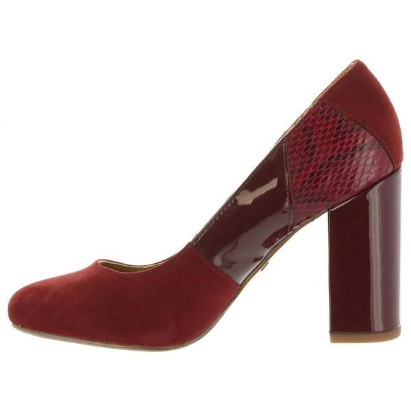 9cm Zapato de tacón mujer - burdeos