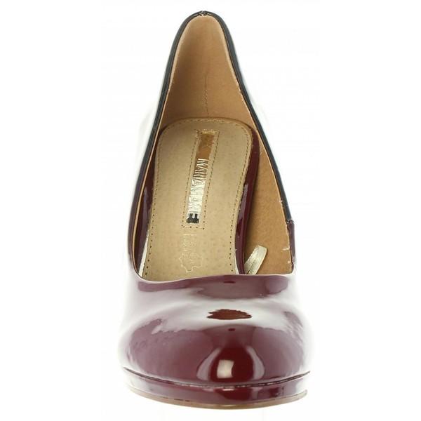 8cm Zapato tacón mujer - burdeos