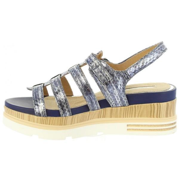 Sandalias plataforma mujer - azul