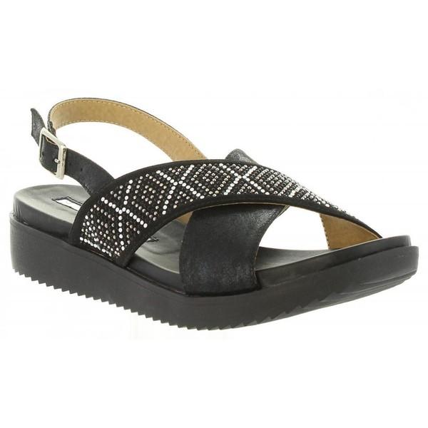 Sandalias planas mujer - negro