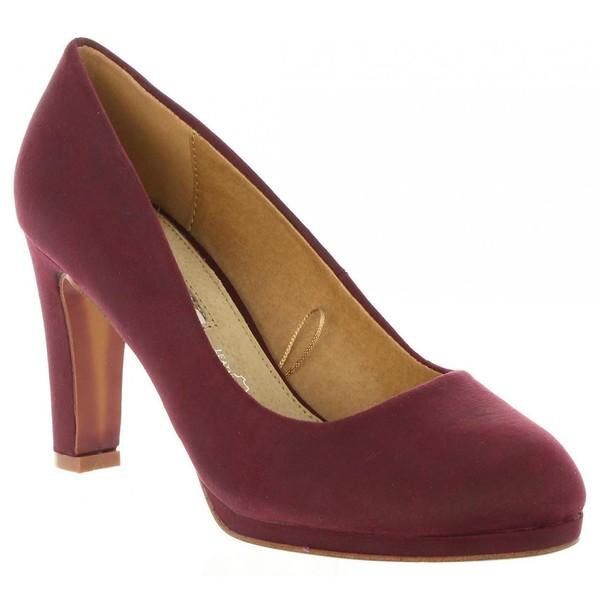 9cm Zapato tacón mujer - burdeos
