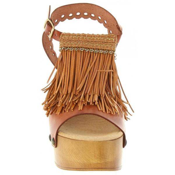 12cm Sandalia tacón mujer piel - cuero