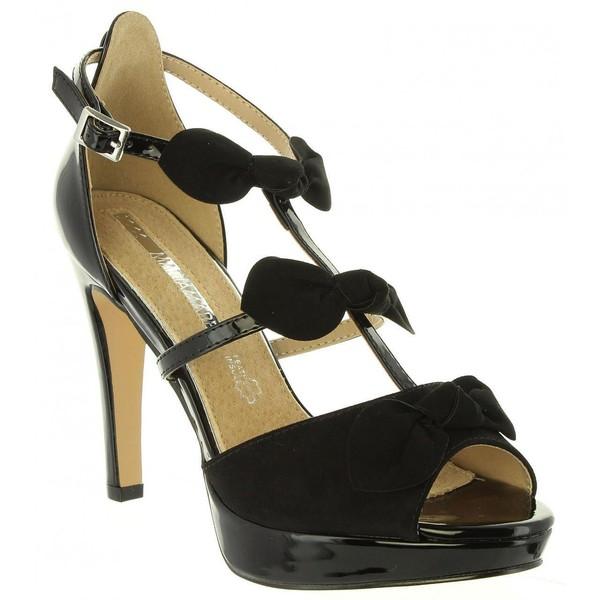 11cm Zapato tacón mujer - negro