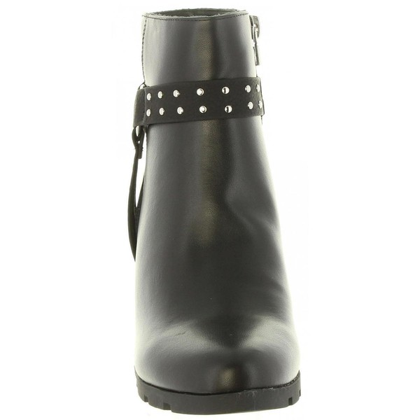9cm Botín tacón mujer - negro