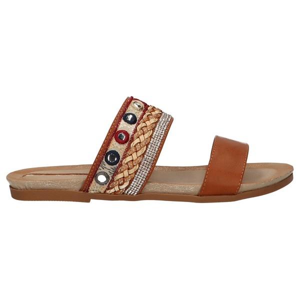 Sandalias planas mujer - marrón
