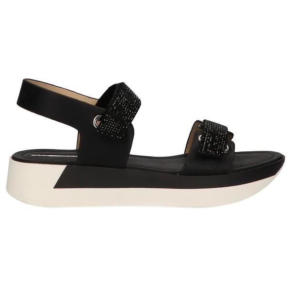 4cm Sandalia plataforma mujer - negro