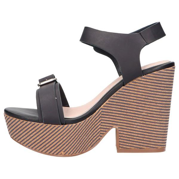 Sandalias tacón mujer - azul