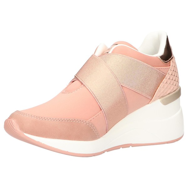 6cm Sneaker cuña mujer - rosa