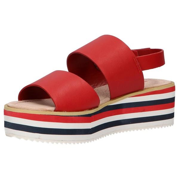 5cm Sandalia plataforma mujer - rojo
