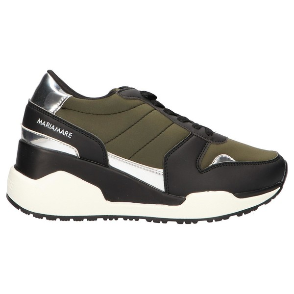 6cm Sneaker chunky mujer - negro