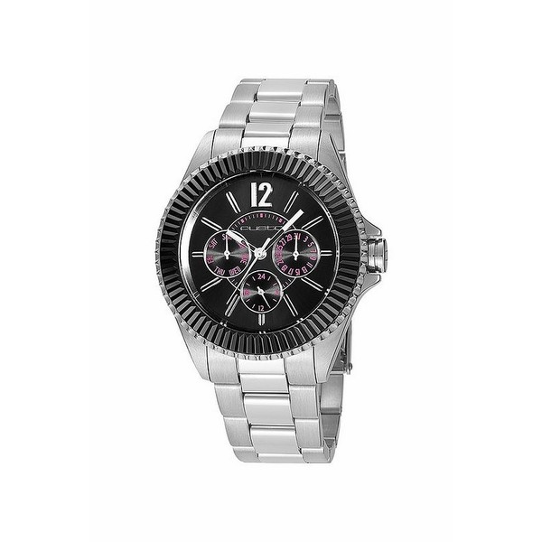 Reloj mujer analógico acero - plata/negro