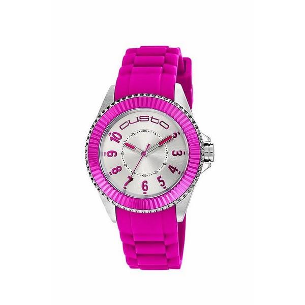 Reloj analógico mujer - rosa/gris