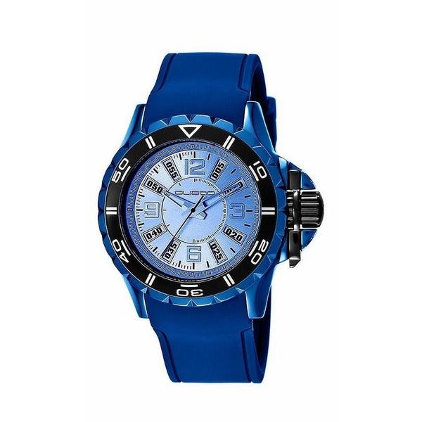 Reloj hombre analógico aluminio/caucho - azul