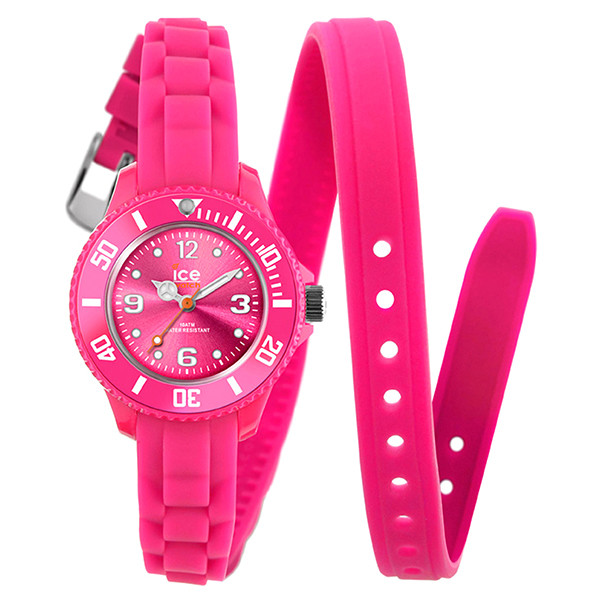 Reloj mujer analógico caucho - rosa