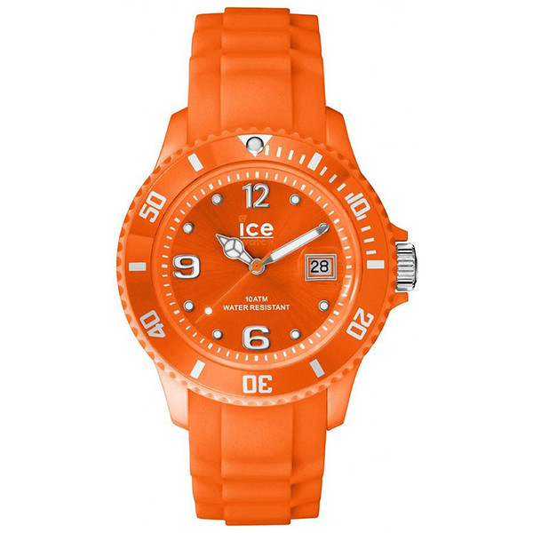 Reloj analógico unisex caucho - naranja