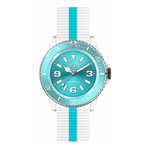 Reloj analógico nylon unisex - blanco/azul